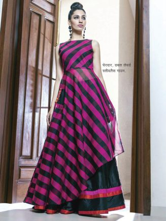dobule layerd sleevless gown
