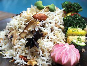 चावल के स्वाद : मशरूम पुलाव