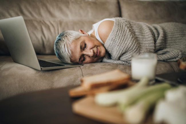 take a power nap between work
