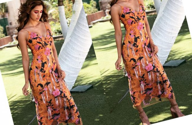 disha-orange-dress