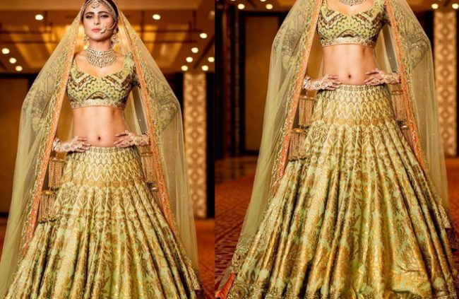 green-lehnga